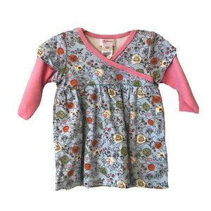 Zutano Organic  Baby Infant 12M Dress Floral Long